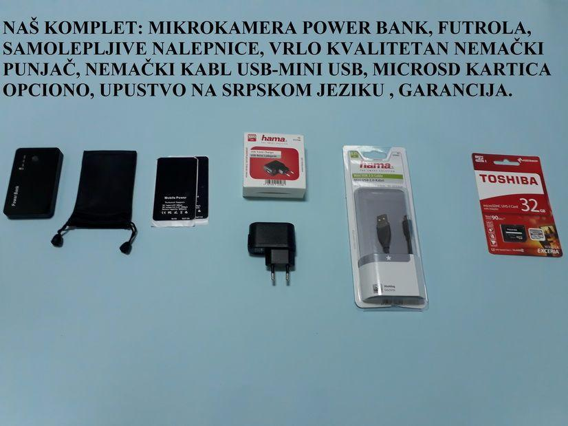 power bank - spijunska kamera